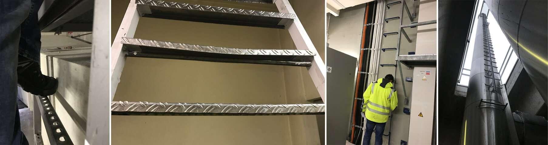DGUV Prüfungen / UVV Prüfungen von Steigleitern und Treppen