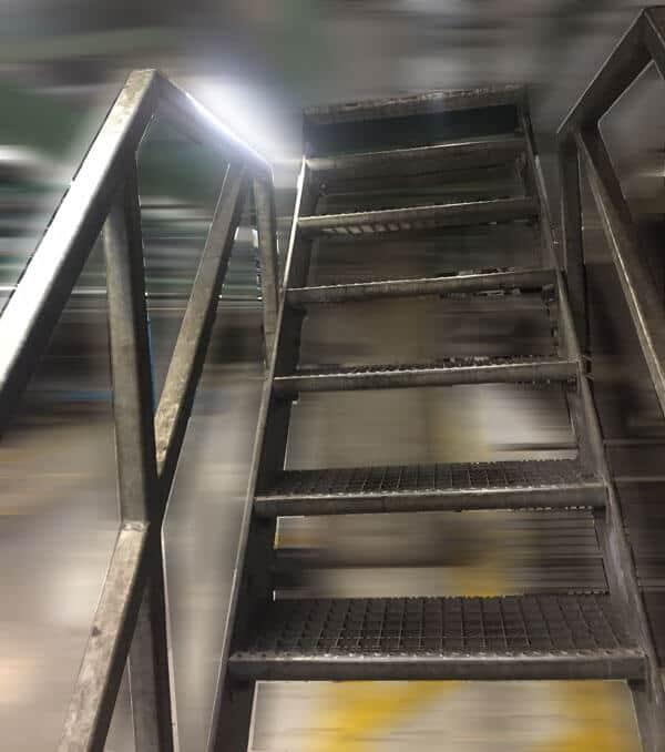UVV Prüfung von fahrbaren Treppen